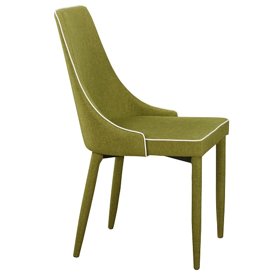 Westport Stylish Dining Chair In Green Fabric Dining
