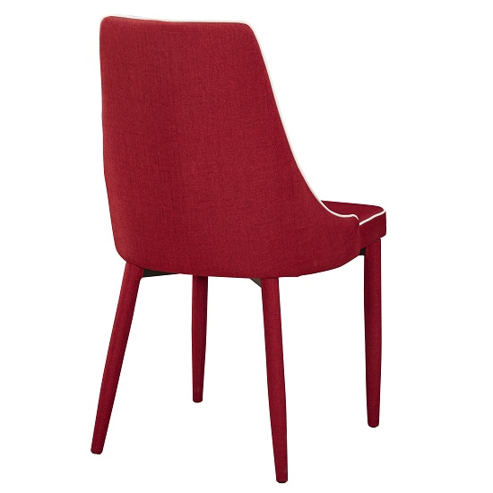 Westport Stylish Dining Chair In Red Fabric Dining Room Chairs Fabric Lea