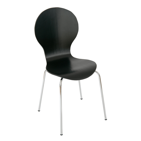 Bentwood Bistro/Dining Chair in Black, DCW-20BL