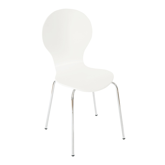 Bentwood Bistro/Dining Chair in White, DCW-20WH