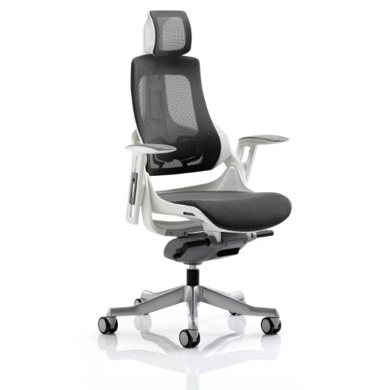 Zeta Executive Office Chair In Black Fabric