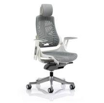 Zeta Executive Office Chair In Elastomer Grey