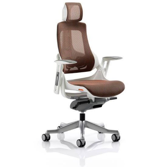 Zeta Executive Office Chair In Mandarin Mesh