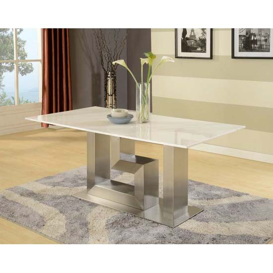 Artemis Contemporary White Natural Marble Dining Table Only : DT897CH519whitedinset from www.furnitureinfashion.net size 550 x 550 jpeg 55kB