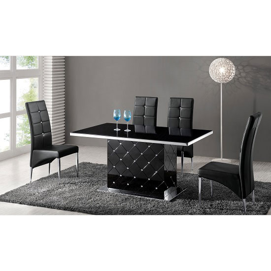 Black gloss dining table and chairs images dining table set designs black gloss dining table set  sc 1 st  onassisstyle.info & Black Gloss Dining Table Set Images - Dining Table Set Designs