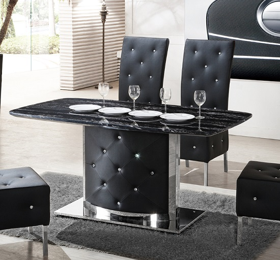 DTG 726 black marble dining table - Complete Guide: Choosing A Black Dining Table