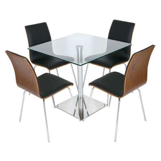 Luca Black Table and Chairs
