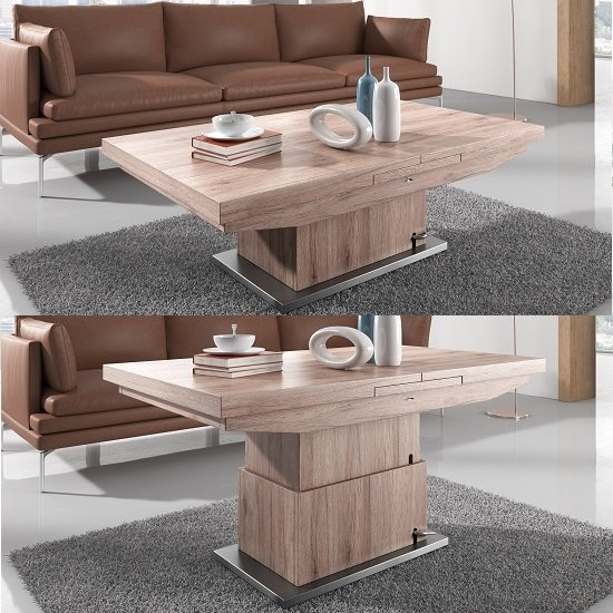 Elgin Extendable Coffee Converting Dining Table In Sonoma: coffee table to dining table