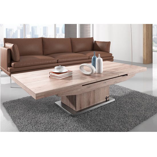 Elgin Extendable Coffee And Dining Table In Sonoma Oak_3