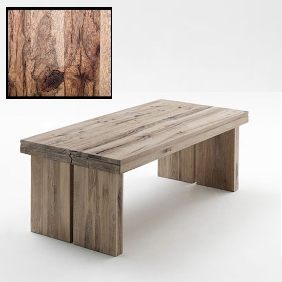 Dublin 180cm Dining Table In Solid Wild Oak