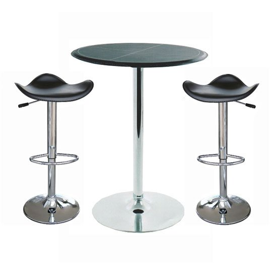 Dallas Bar Table With 2 Fury Bar Stools, Home Bar Furniture