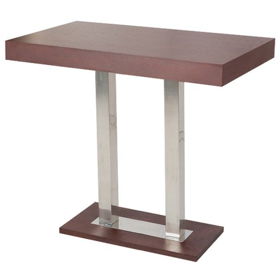 Caprice Bar Table Rectangular In Wenge And Stainless Steel_1