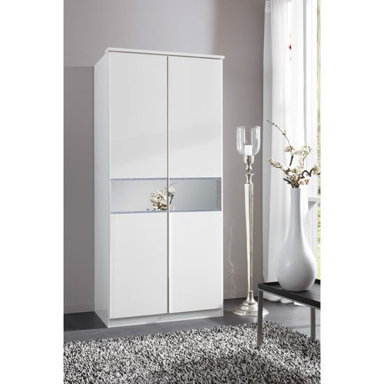 Diamant 2 Door Wardrobe With Glass In Centre 21992
