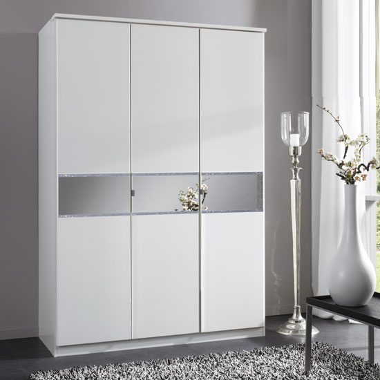 Diamant 3 Door Wardrobe With Glass In Centre