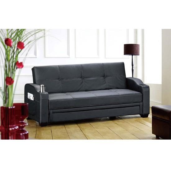 diana contemporary black sofa bed with storage 9731