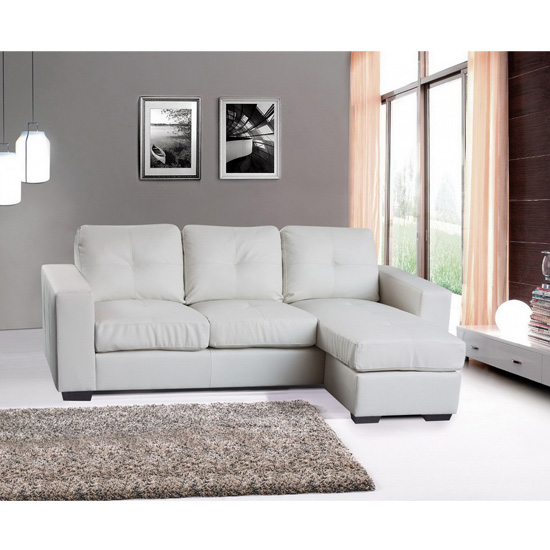 Diego Bonded Leather Corner Sofa 15061 Furniture in Fashion