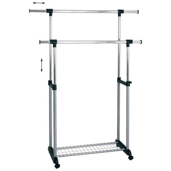 Read more about Dina double clothes rack railing