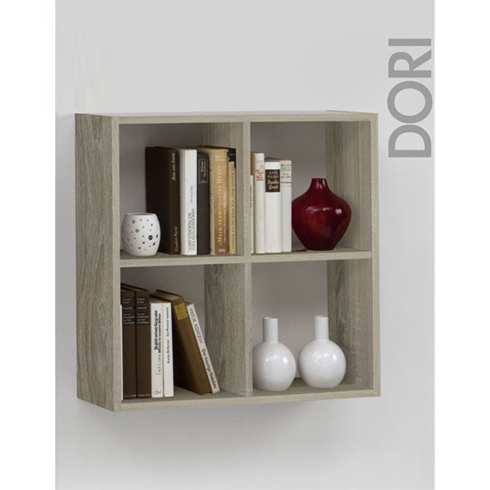 Dori Wall Shelves In Canadian Oak With 4 Shelf
