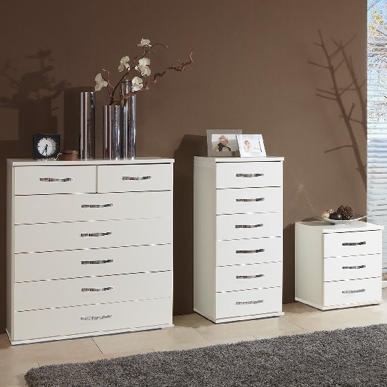 Candice Chest of Drawers In Alpine White With 6 Drawers_2
