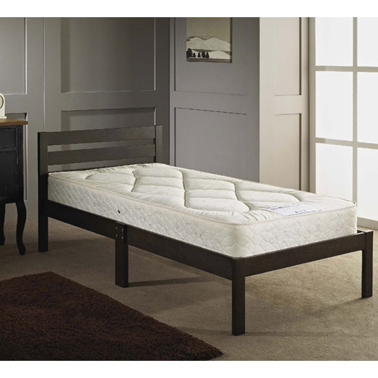 ECO 3FT Wooden Bed in Ash Brown
