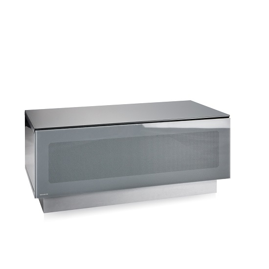 Castle LCD TV Stand Small In Grey With Glass Door_2