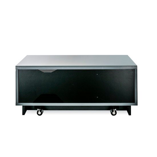 Castle LCD TV Stand Small In Grey With Glass Door_4