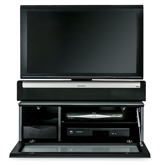 Castle LCD TV Stand Small In Grey With Glass Door_6