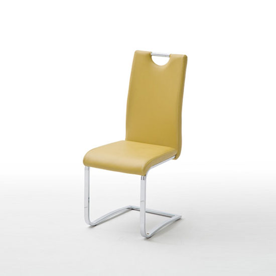 Elly Dining Chair In Curry Faux Leather With Chrome Legs : ELLC10CU from www.furnitureinfashion.net size 550 x 550 jpeg 12kB