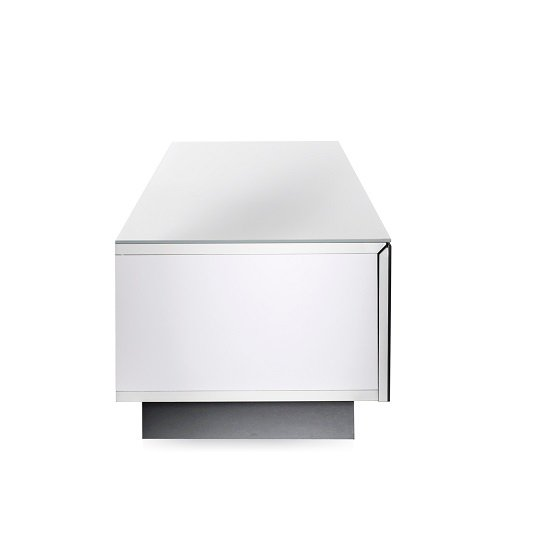 Castle LCD TV Stand Medium In White With Glass Door_4