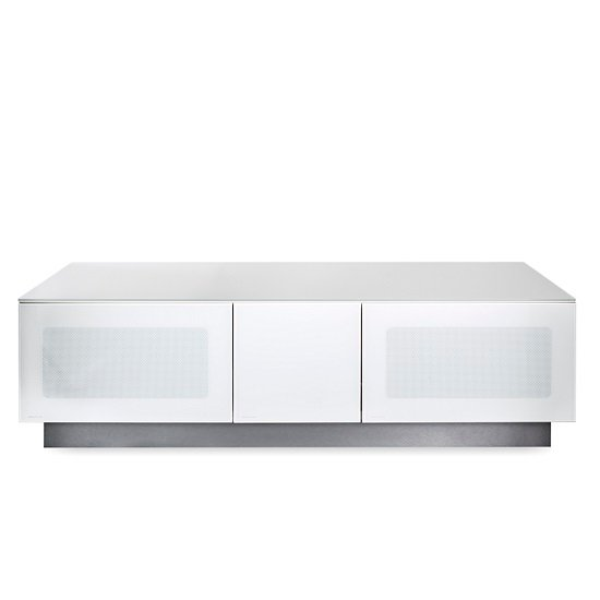 Castle LCD TV Stand Medium In White With Glass Door_3