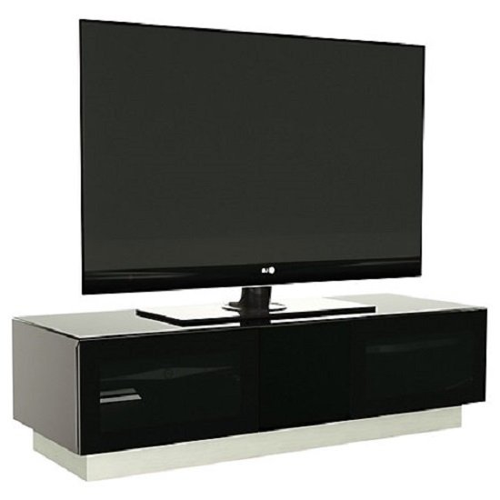 Castle LCD TV Stand Large In Black With Glass Door