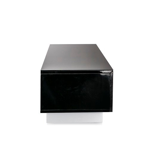 Castle LCD TV Stand Medium In Black With Glass Door_3