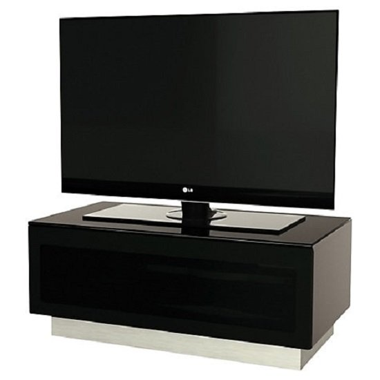 Castle LCD TV Stand Small In Black With Glass Door