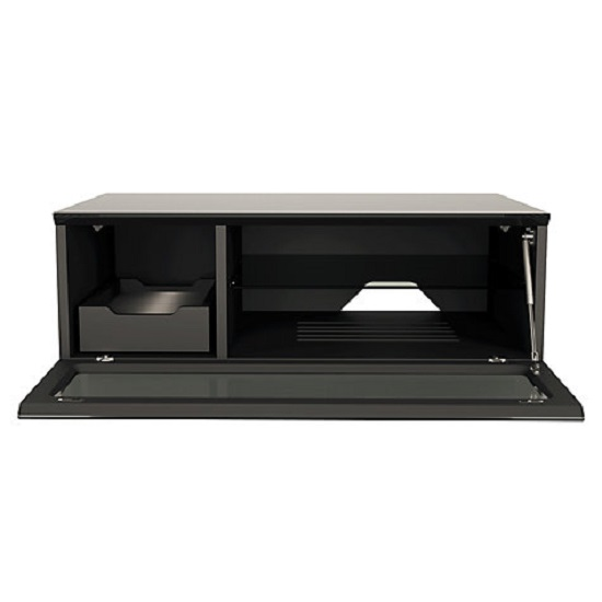 Castle LCD TV Stand Small In Black With Glass Door_5