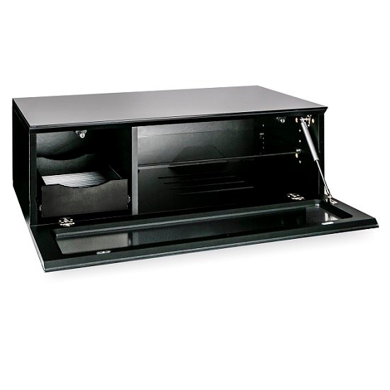 Castle LCD TV Stand Small In Black With Glass Door_8
