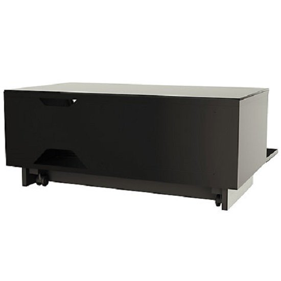 Castle LCD TV Stand Small In Black With Glass Door_2