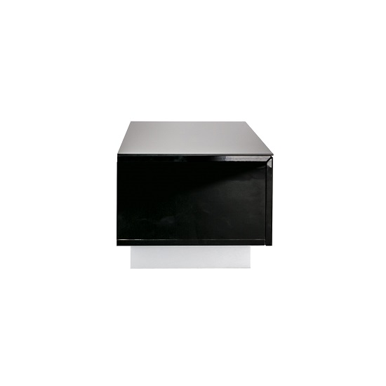 Castle LCD TV Stand Small In Black With Glass Door_3