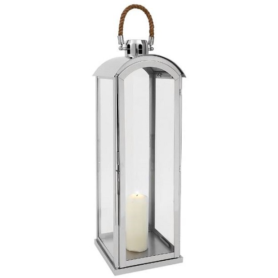Haylee Large Lantern In Silver Finish