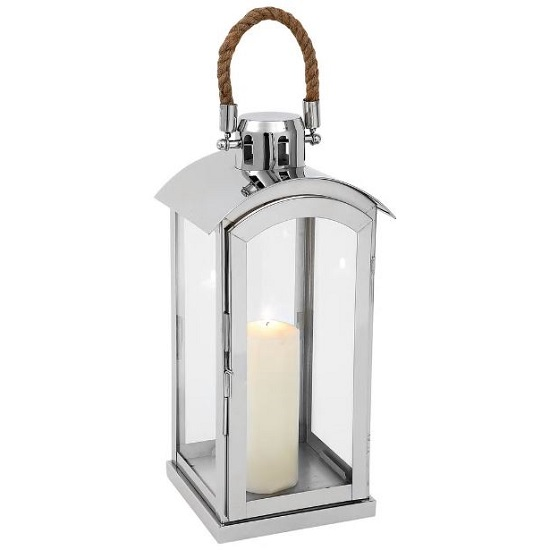 Haylee Small Lantern In Silver Finish