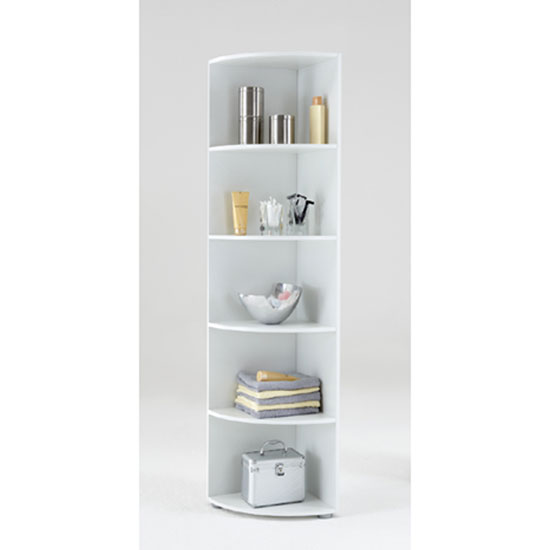 White Corner Shelf Unit