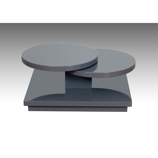 Eclipse Motion High Gloss Coffee Table In Taupe Finish