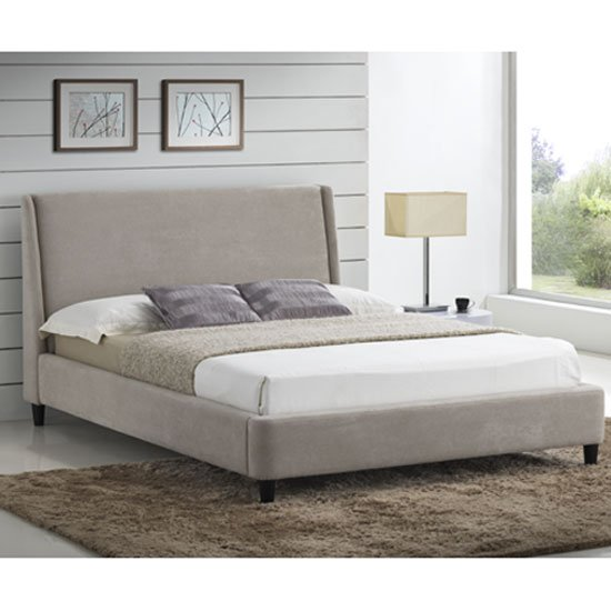 Edburgh Sand Fabric Finish King Size Bed