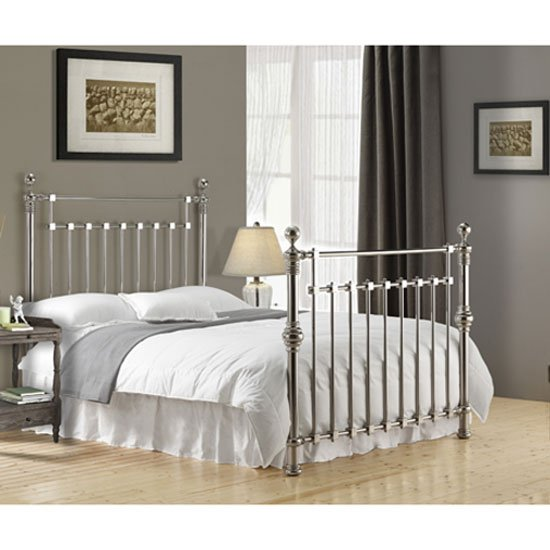 Edward Chrome Finish Metal Double Bed