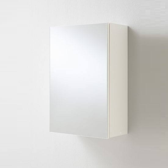 Photo of Elena bathroom wall mounted cabinet in white with mirrored door