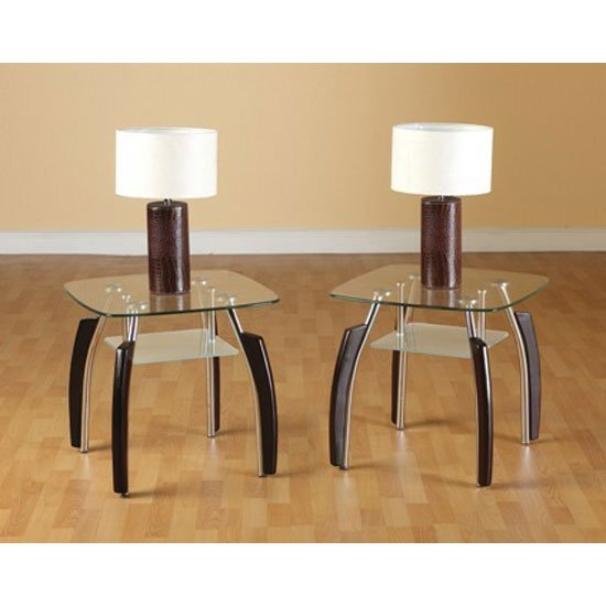elena clear glass top lamp table with frosted glass undershelf p