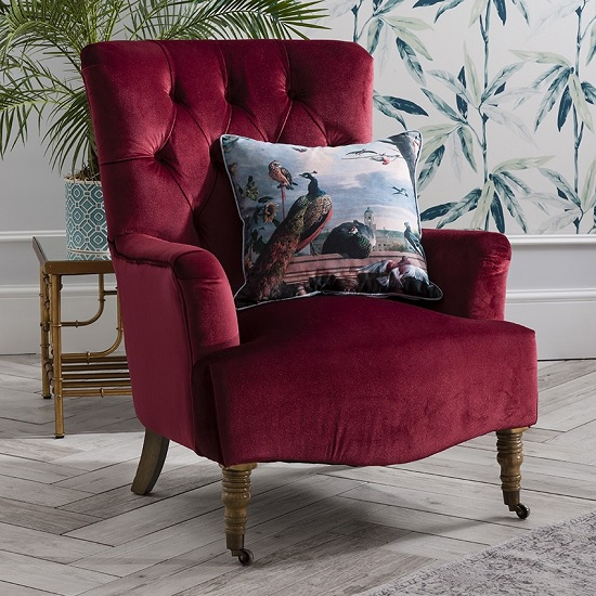 Everly Velvet Chair Berry Gallery - What Type Of Furniture Is In Style: Brief Overview Of The Current Trends In Fashion
