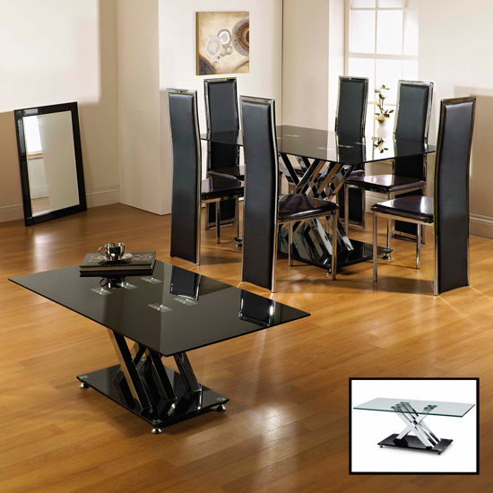 Dining Table Juliette Glass Dining Table : Excelsior Range BLACK CLEAR from diningtabletoday.blogspot.com size 550 x 550 jpeg 214kB