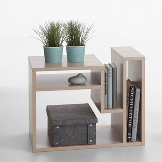 Fritz Side Table In Noble Beech With Storage