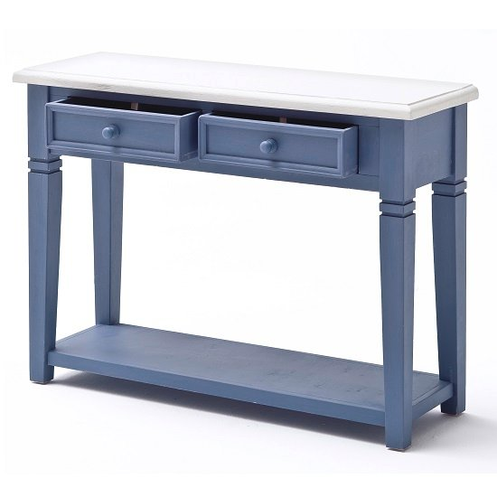 how to make a bathroom cabinet falcon console table with drawers in solid blue pine 25441 25441