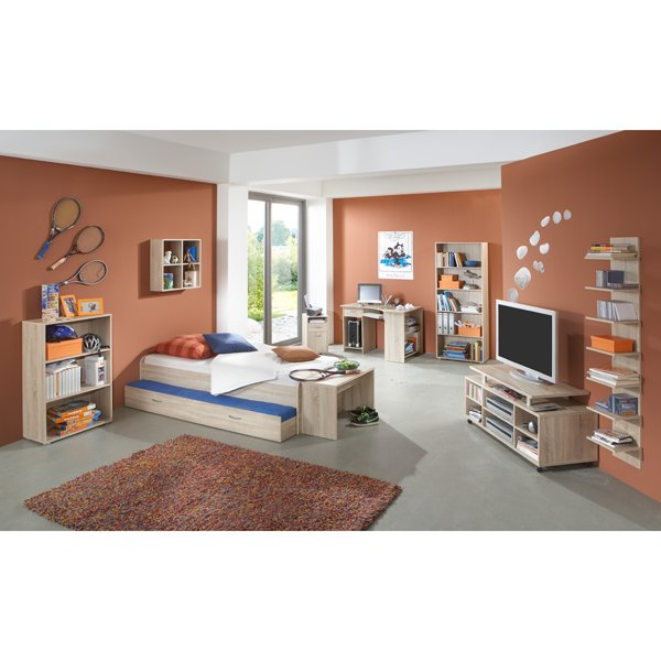 Felix Canadian Oak Childrens Study Bedroom Furniture Set